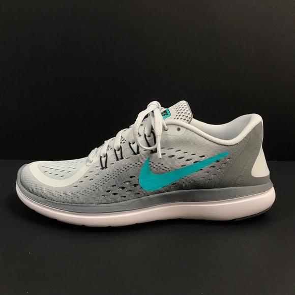 NEW Nike WMNS Flex 2017 Run Athletic Shoes Platinum Jade Gray Sz 6.5 898476-007